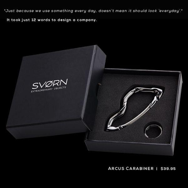 Arcus Carabiner keychain by SVØRN. Discover more at www.svorn.net