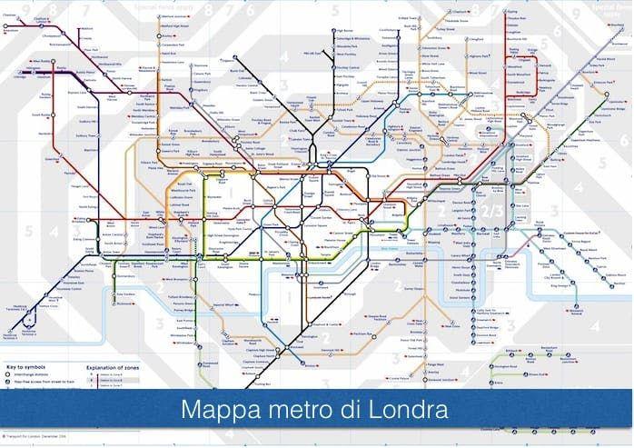 Cartina Di Londra Da Stampare.Mappa Metro Di Londra Mappa Di Londra Metropolitana Di Londra Londra