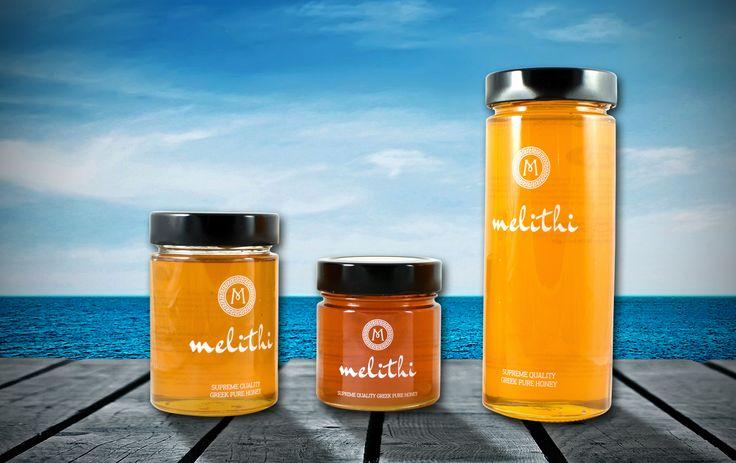 Σχεδιασμός Συσκευασίας Λογοτύπου για Μέλι melithi by SmartGraphic.GR