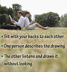 Team building exercise that teaches you to listen... this could  be fun!