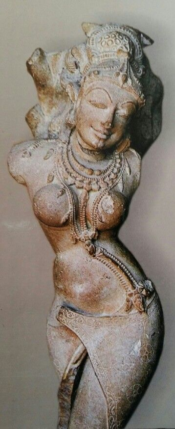 Yakshi, Salabhanjika (tree touching)  9th C. India C. Prathihara Dynasty.  Gwalior Museum. M. P.