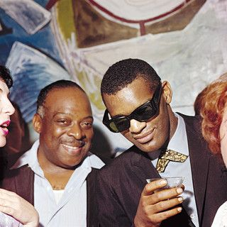 Count Basie and Ray Charles at a reception organized by mr. Dumas, the mayor of Juan-les-Pins in July 1961. Photo by Jean-Pierre Leloir.