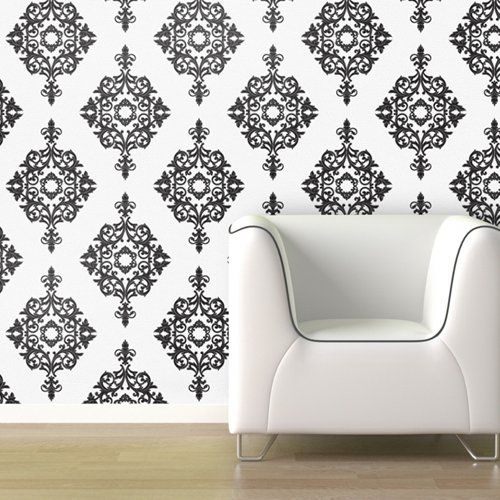 Find it at the Foundary - Black Diamond Diamond Damask Wallpaper