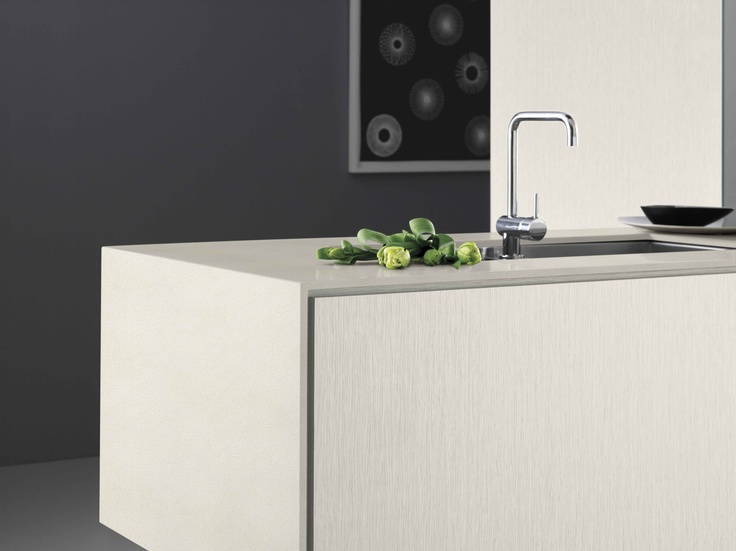 Benchtop and waterfall Laminex Freestyle Smooth Concrete (12mm).
