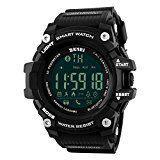 #6: Para hombre Smart reloj digital 5ATM resistente al agua deporte reloj de pulsera llamada SMS notificación LED podómetro SmartWatch