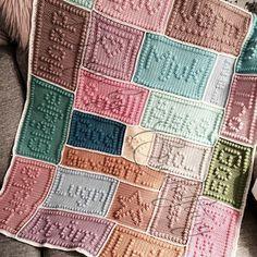 crochetfairy.blogg.se - Mönster bobblestitch filt.