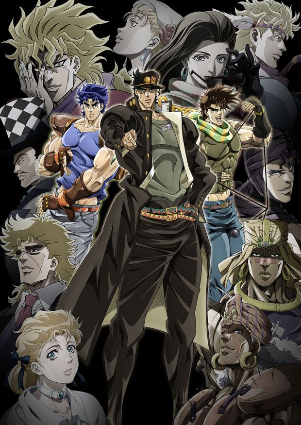 JoJo's Bizarre Adventure x Lawson campaign for AnimeJapan 2014.