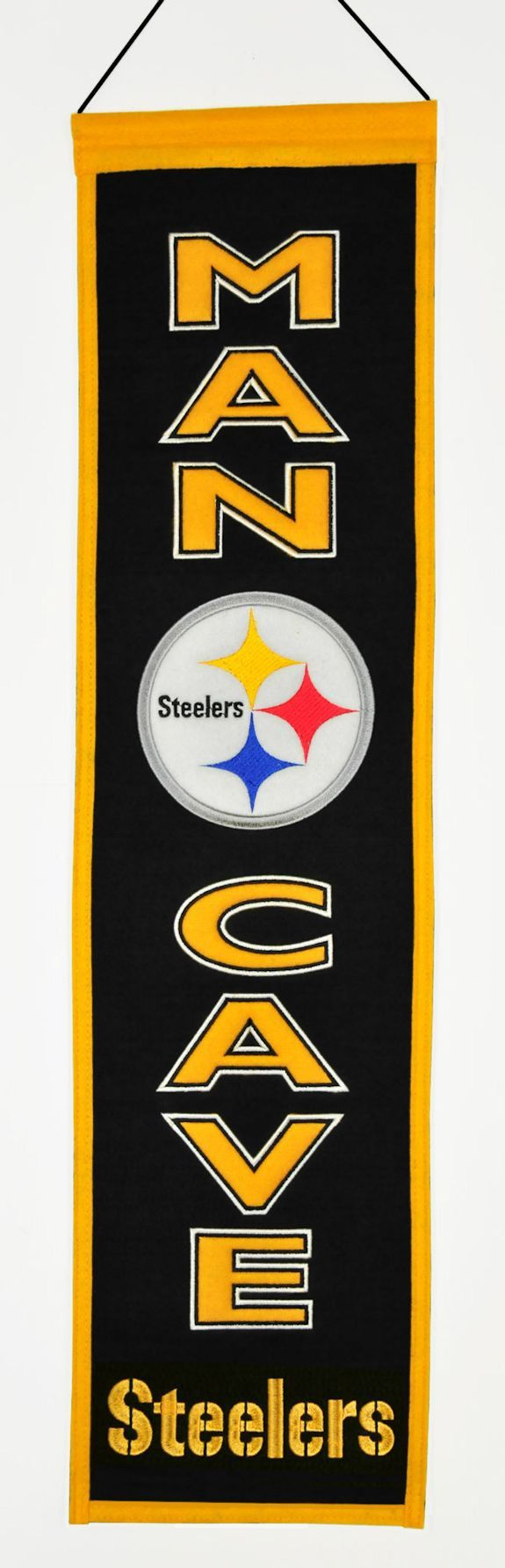 7408849160/674088491601/_A_ These uniquely shaped banners are the ultimate Man Cave Collectible! Our Man Cave Banner designs feature the teams logo and many include their…