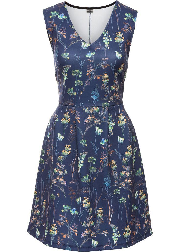 Abito in jersey Blu notte a fiori - BODYFLIRT è ordinabile nello shop on-line di bonprix.it da ? 29,99. Abito romantico della BODYFLIRT con scollo a V ...