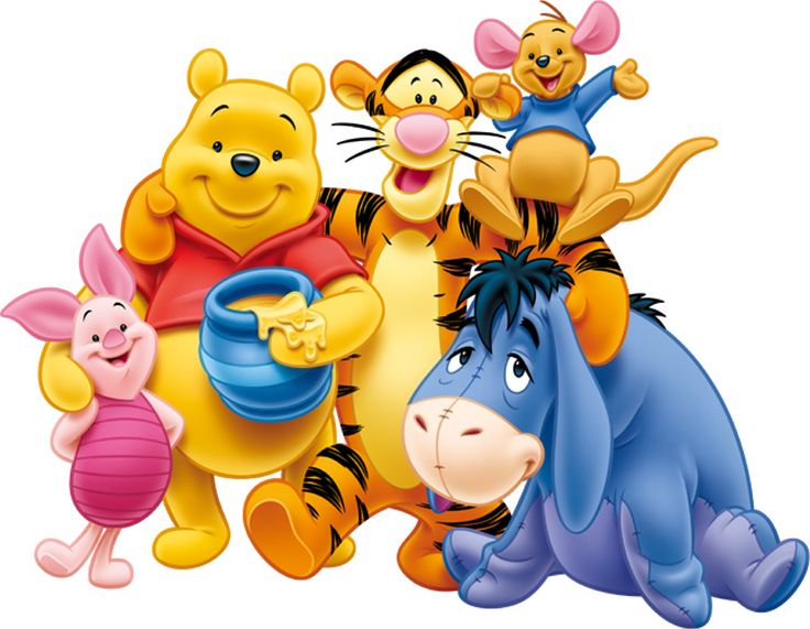 Winnie, Bourriquet, Tigrou et Porcinet