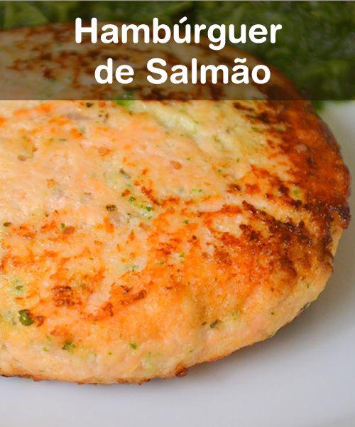 Ingredientes: / •400 g de salmão fresco sem pele / •1 clara / •3 colheres (sopa) de queijo cottage / •2 cebolas raladas / •2 colheres (chá) de gengibre ralado / •Raspas de limão / •Sal e pimenta-do-reino a gosto