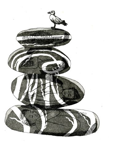 'Tales from strange Mirrors'  etching. Hard ground and aquatint.