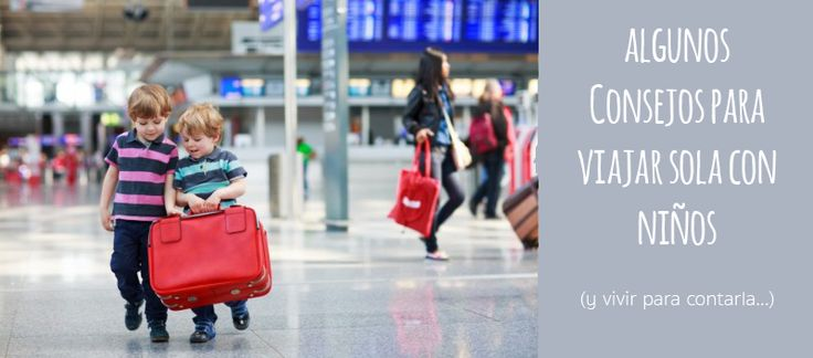 viajar sola con niños en avión