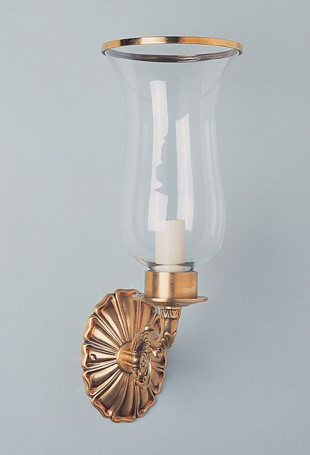 W4-044 - Small Empire Style Storm Light with Leaf Arm