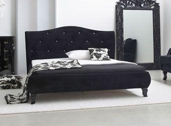 Łóżko z tkaniny MILA