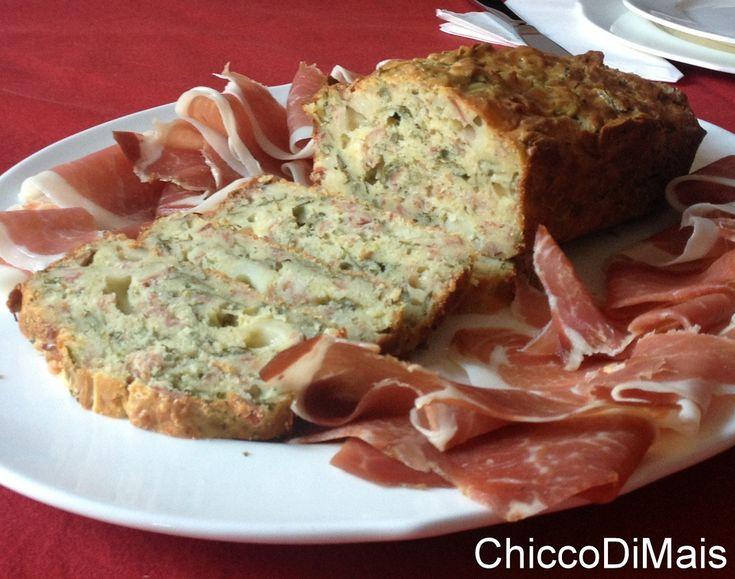 Plumcake+salato+con+speck+e+rucola+(ricetta+torta+salata)
