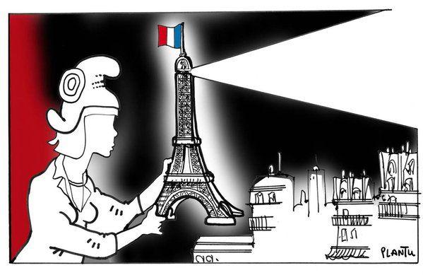 """13 et 14 NOVEMBRE 2015. (Le dessin Monde de ce samedi)"""