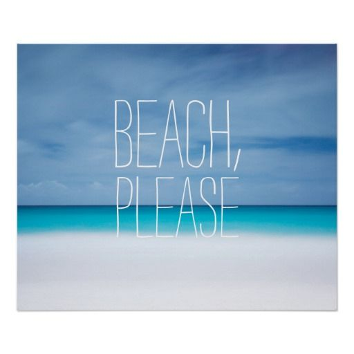 Funny beach, please tropical ocean photo hipster posters   Zazzle