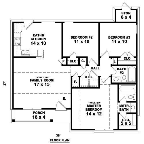 Prime 17 Best Images About Houseplans 3 Bedroom On Pinterest Ranch Inspirational Interior Design Netriciaus