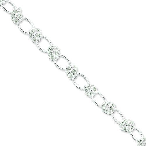 Sterling Silver Bracelet. Metal Weight- 11.5g. 7.5in long Bracelet. Jewelrypot. $49.99. 100% Satisfaction Guarantee. Questions? Call 866-923-4446. Fabulous Promotions and Discounts!. 30 Day Money Back Guarantee. All Genuine Diamonds, Gemstones, Materials, and Precious Metals. Your item will be shipped the same or next weekday!