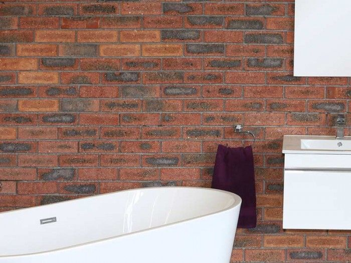 CTM - Rustic Brick Tile Cladding. The Rustic Brick Tile Cladding is the latest in the Urban Chic trend, it creates a beautiful earthy or rustic look to your home.  This beautiful clay cladding can be used on wall and floors and the look can be enhanced with a white wash effect.