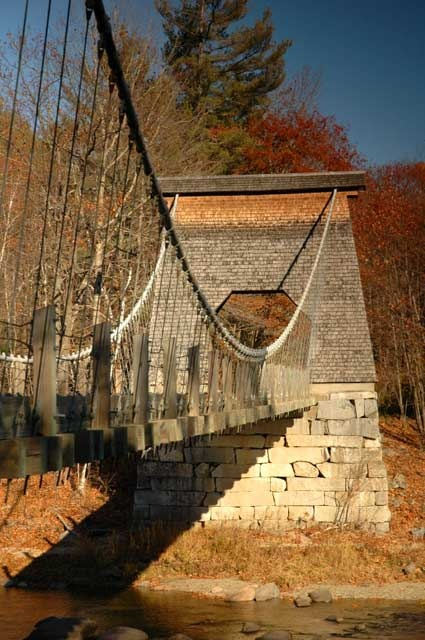 Wire Bridge in New Portland, Maine. Used to scare the crap out of me when I was a kid! Love it now!