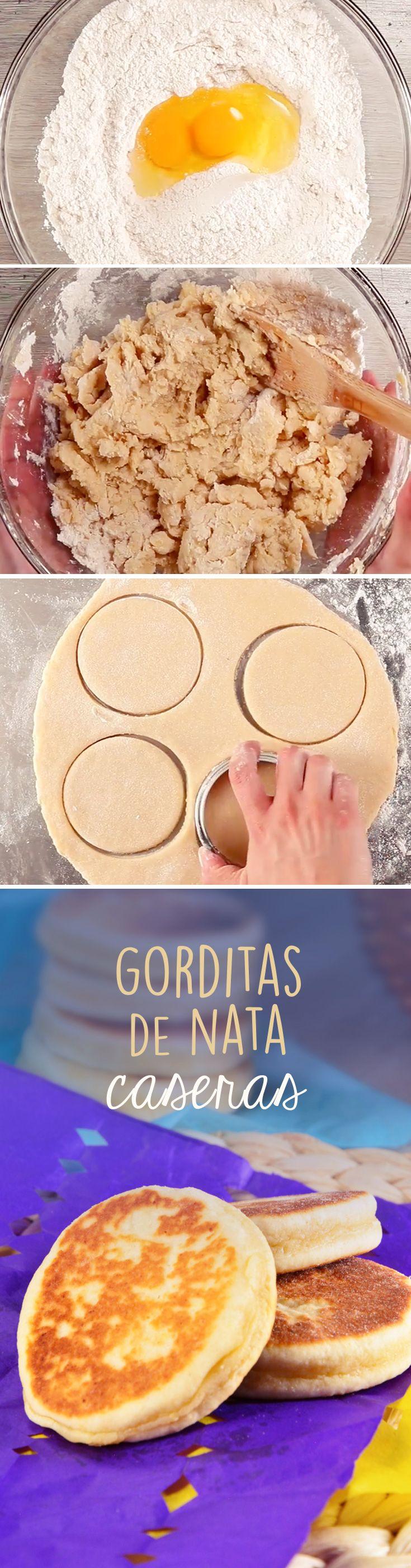 Gorditas de nata caseras para #cuaresma. Este pan se hace a sartén y queda doradito, por lo que no tendrás que preocuparte por hornear.