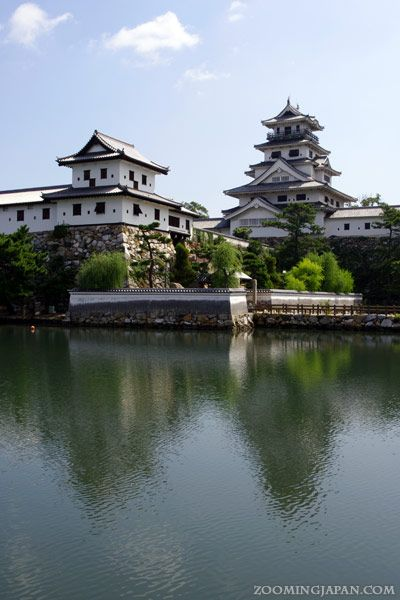 Beautiful Imabari Castle in Ehime Prefecture.