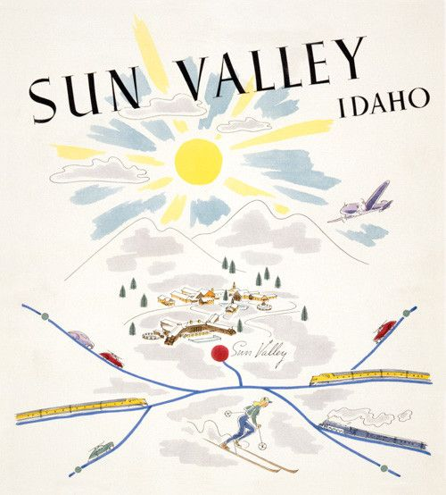 Sun Valley, Idaho. Planes, trains and automobiles travel to the ski resort at…