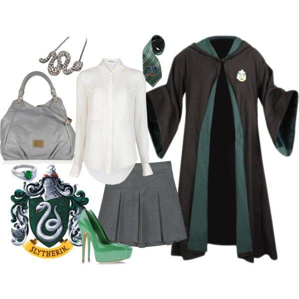 """Slytherin Uniform"" by helsingmusique on Polyvore"