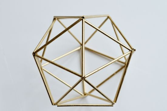 Handmade Holiday Decor: DIY Faux Brass Himmeli Orb | The Design Confidential