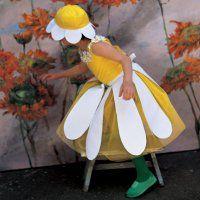 Un déguisement de marguerite pour enfant, carnaval, mardi gras // Daisy flower disguise for carnival