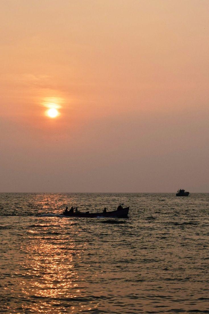 Sunset At Munambam Beach, Kochi, India