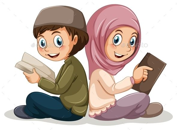 GraphicRiver Muslim Boy and Girl 10950683