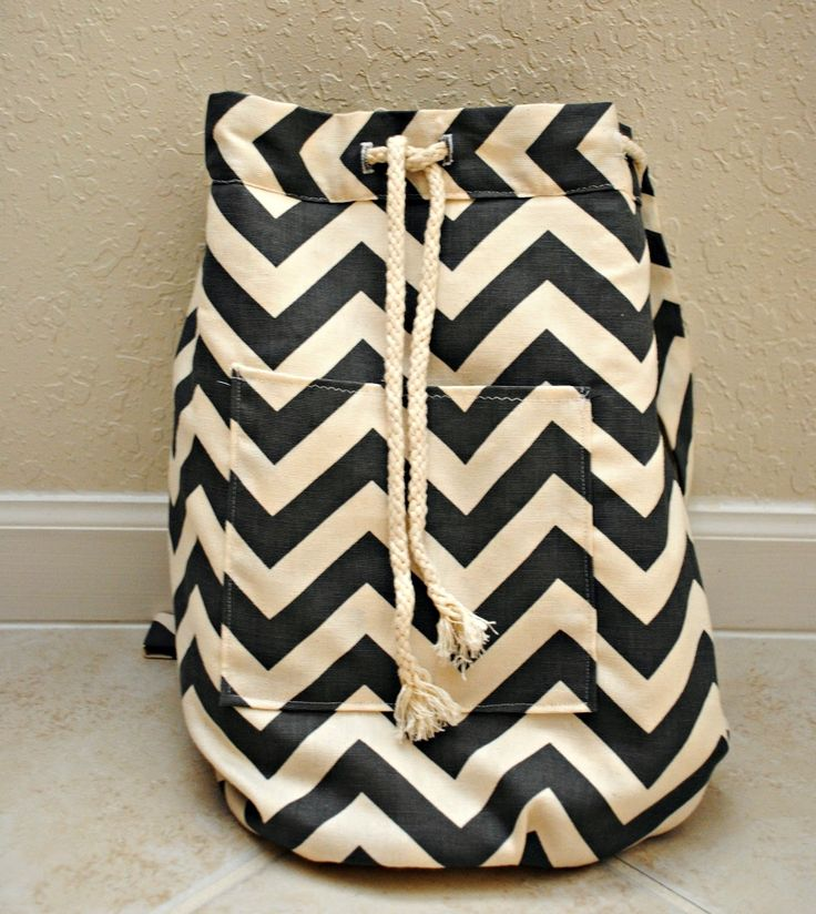 DIY backpack with just 1 yard of fabric. diy crafts