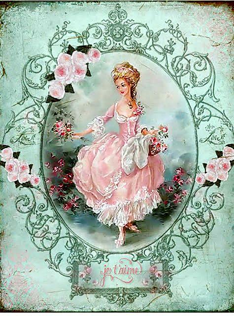 Картинки барышни шебби шик для открыток и декупажа, день рождения