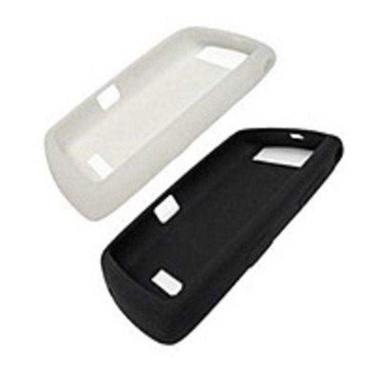 Research In Motion RIM95XXSKNS Rubberized Gel Skin Case for Blackberry 9500 Thunder, 9530 Storm - 2-Pack - Black and White