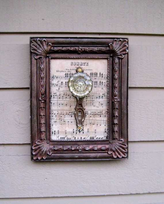 antique door knob display rack for your music teacher with vintage sheet music and antique glass doorknob with escutcheon - Vintage Door Knobs