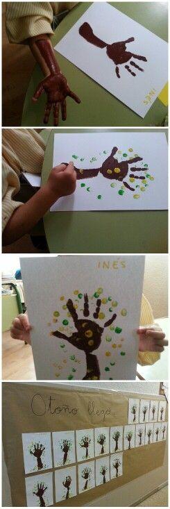 """Trabajando """"El Otoño"""". ( 3 años)"""