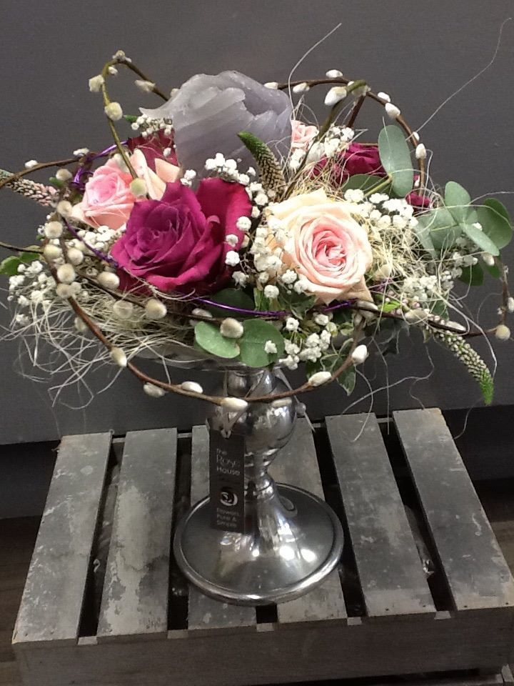 A lovely table arrangement for a wedding or special party, #flowers #Perth #McEwens