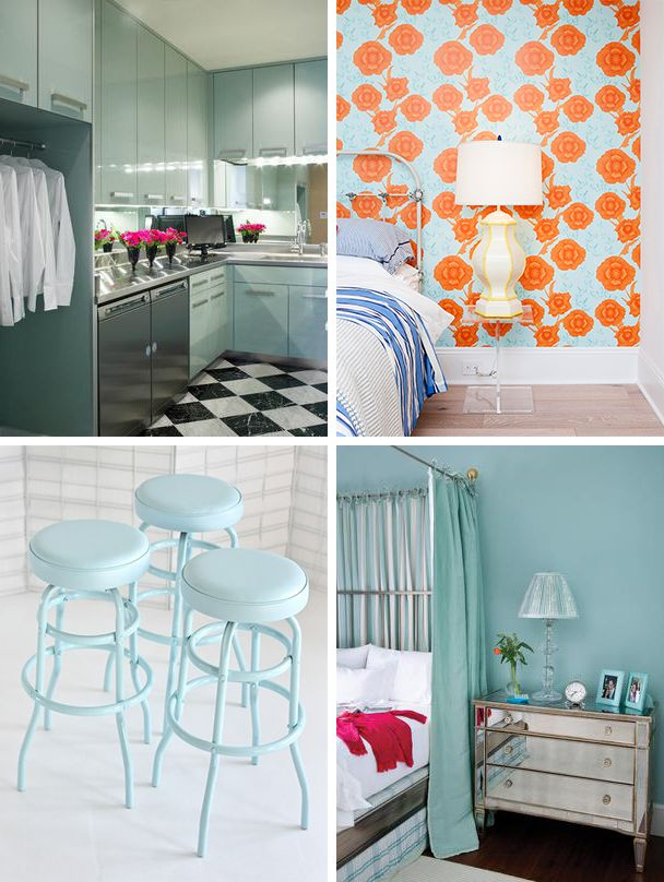 'Nairobi Blue' Spaces Inspired by Lupita Nyong'o (http://blog.hgtv.com/design/2014/03/05/nairobi-blue-spaces-inspired-by-lupita-nyongo/?soc=pinterest): Blue Stools, Color Blue, Blue Craze, Blue Gowns, Pale Blue, French Blue, Nairobi Blue My, Blue My Favorite