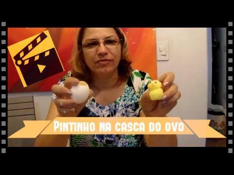 DIY- Como fazer Pintinho de Espuma dentro da Casca de Ovo