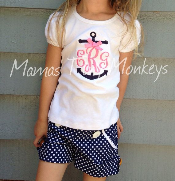 Monogrammed Anchor Shirt by MamasTinyMonkeys on Etsy, $18.00