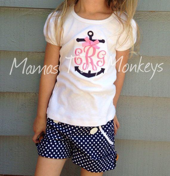 Monogrammed Anchor Shirt by MamasTinyMonkeys on Etsy, $18.00
