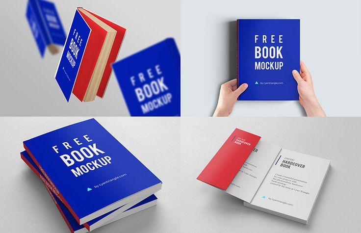 Hardcover Book Mockups Set Book Cover Mockup Book Design Free Books