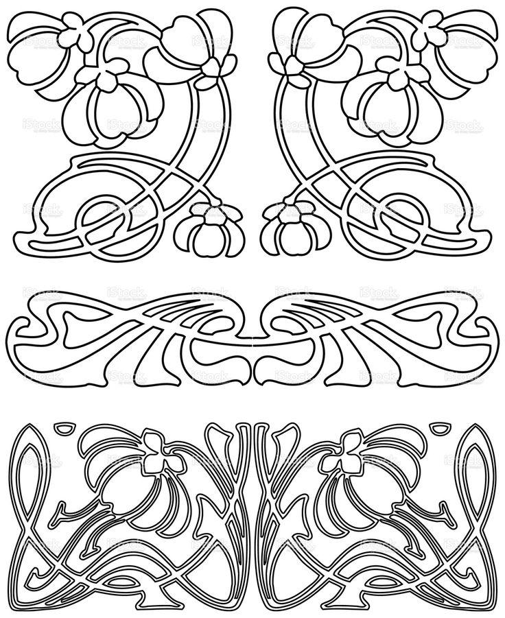 Art Deco Design Elements 3 (Vector). stock vector art 1101700 - iStock