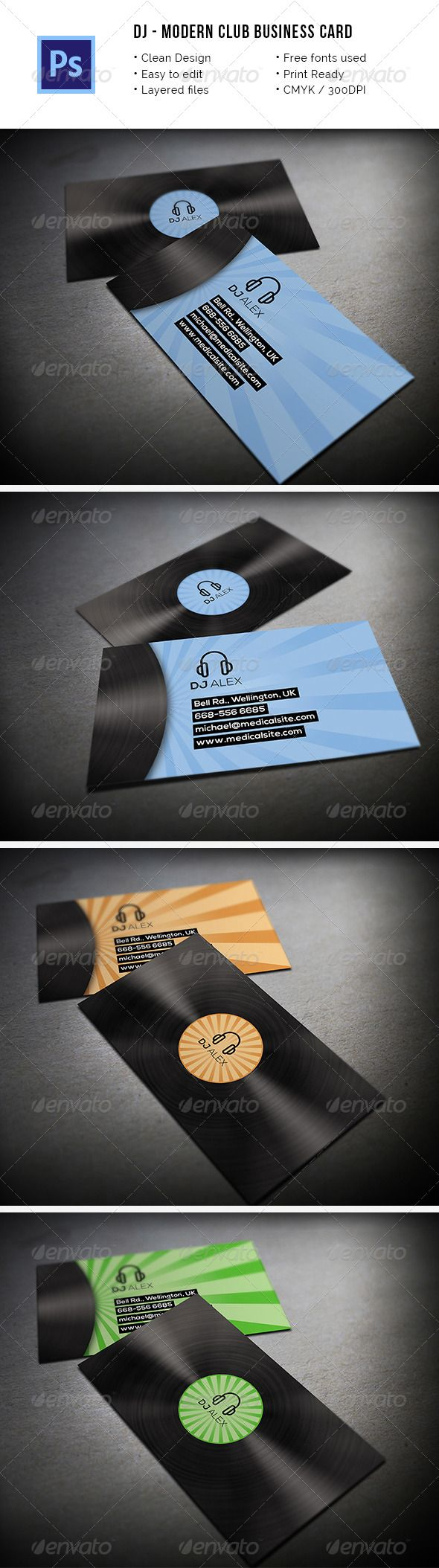 The 2151 best DJ Business Cards images on Pinterest | Card patterns ...