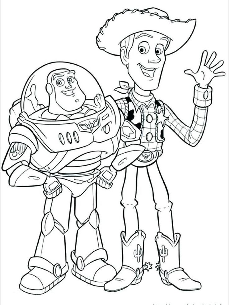 Buzz Lightyear Coloring Pages Free To Print Gambar, Warna