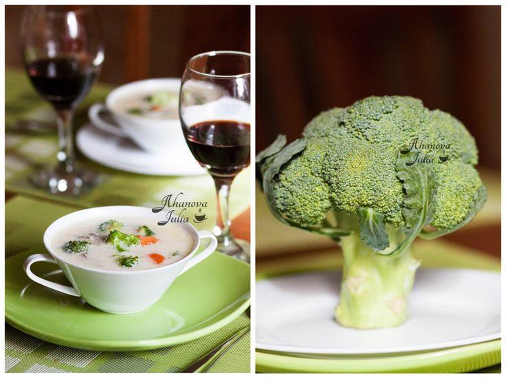 Готовлю с любовью - Сырный суп с брокколи