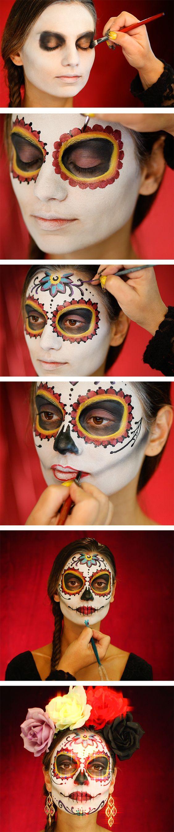 Haz tu propio #MaquillajeDeCatrina, aquí te enseñamos el #PasoaPaso para lograrlo.